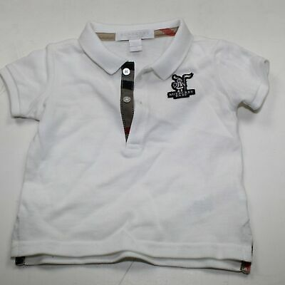 Burberry Baby's White Polo Shirt Size 9M