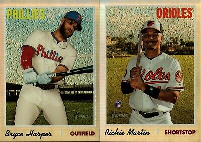 2019 Topps Heritage High Number Chrome Refractor #/569 W/ Rc Singles - You Pick