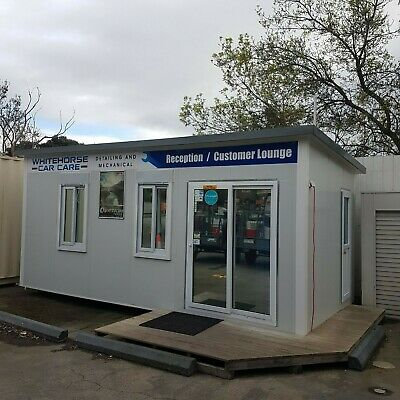 6x3 Metre Relocatable Portable Modular Building Office Site Shed With Bathroom