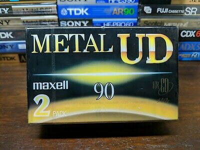 2-Pack Maxell UD Metal 90 Blank cassette tapes Type IV JDM market