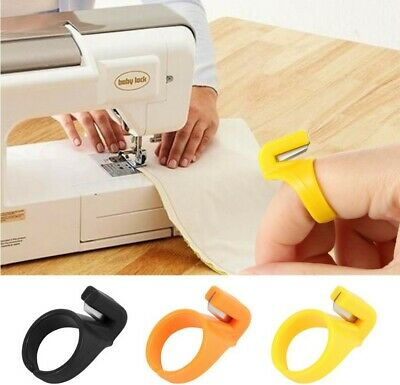 3pcs Plastic Sewing Thimble Ring with Blade Finger Thimble Thread Cutter Best