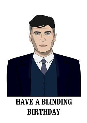 Peaky Blinders Tommy Shelby Birthday Day Card Cillian Murphy Son Dad TV Mum