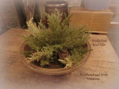 "Primitive Country Prickly Pine 12"" Half Sphere Christmas Winter Bowl Filler"