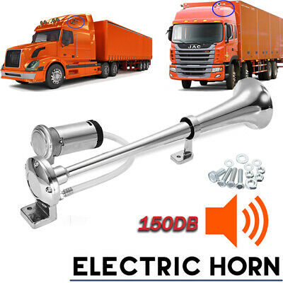 12V Single Trumpet Air Horn Metal+ Compressor Super Loud 150db Truck Lorry Boat