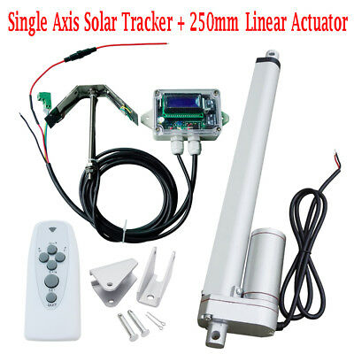 1KW Tracking Single Axis Sunshine Tracker System 10'' Linear Actuator Controller