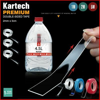 Kartech Nano Magic Tape Strong Double Sided Clear Adhesive Gel Grip Reusable Tra