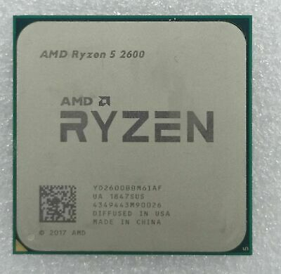AMD Ryzen 2nd Gen 5 2600 - 3.9 GHz Six Core (YD2600BBM6IAF) Processor