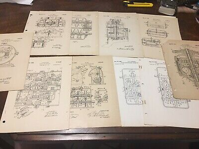Vintage Lot Of Variable Speed Transmission Patent Papers Nice Shape