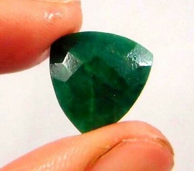 Dyed Faceted Beryl Emerald Gemstone 7 ct 12x12mm W414