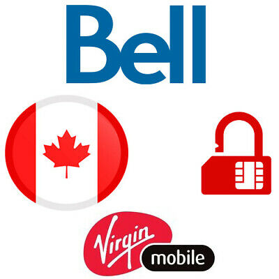 Factory Unlock Service Bell Virgin Canada Iphone, Samsung, Lg, Huawei All Phones