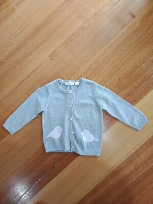 Country road Cotton Baby Girls Cardigan Size 0 ,6-12 Months Pink Birds