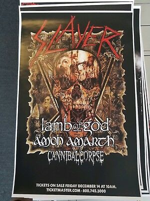 Slayer 11x17 2019 tour concert poster shirt cd metal lamb of god