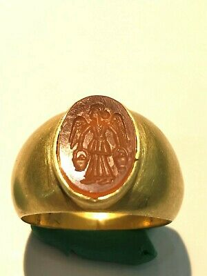 aNCIENT rOMAN GOLD INTAGLIO RING - 4th-1st Century bc