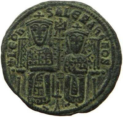BYZANTINE EMPIRE LEO VI.  886-912 FOLLIS RATTO 1875  #sh 003