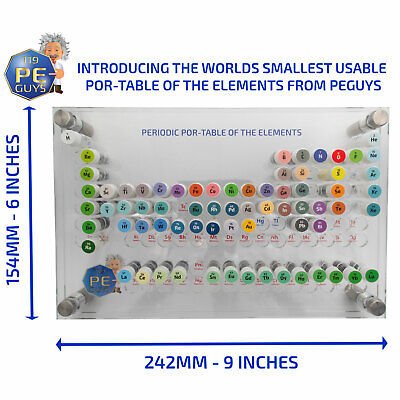 The 76 Bottle Periodic Elements Sample POR-TABLE SMALLEST USABLE TABLE IN WORLD