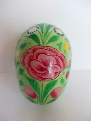 163 / A Vintage Beautiful Hand Painted Wooden Egg