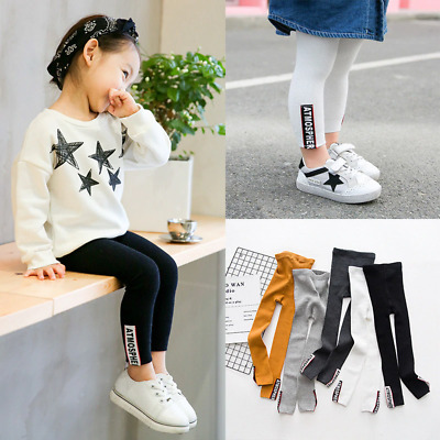 Children Leggings With Color Patch Cheap Warm And Comfortable Trousers For Girls