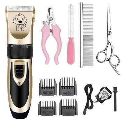 Cat Dog Clipper Low Noise Rechargeable Cordless Electric Pet Grooming Kit Tool
