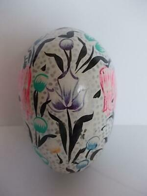 164 / A Vintage Beautiful Hand Painted Wooden Egg