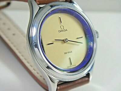 OMEGA De Ville Movt | Ladies Watch | NEW | Sapphire Back Stainless Steel Case