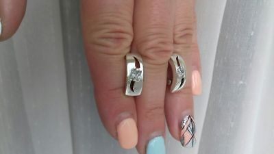 Silver Earrings  5.76g. Silber  925 Ohrringe