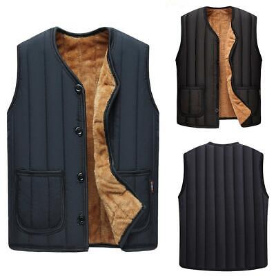 New Fashion Men Casual Sleeveless Winter Thicken Warm Vest with Pockets OK