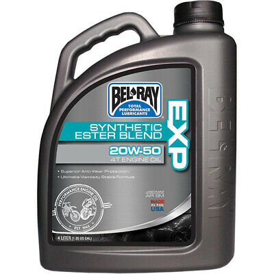NEW Belray MX 4L EXP Synthetic Ester Blend 20w50 Motorbike 4 Stroke Engine Oil