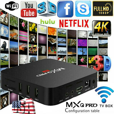 US TV BOX SMART Android 7.1 2019 4K MXQ Pro WiFi KODI Quad Core 3D Media Player