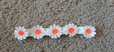 Babies white Headband with daisies all sizes