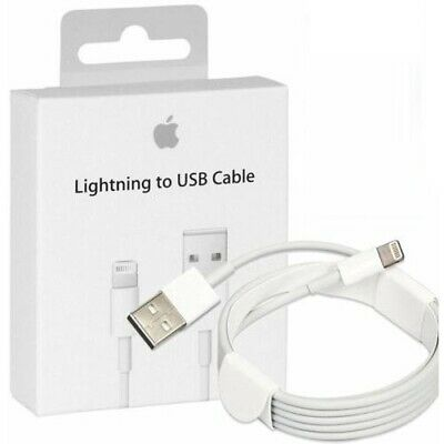 1m 2m GENUINE Apple For Iphones 5 5S 6 6S 7 XS Lightning USB charger Lead Cable