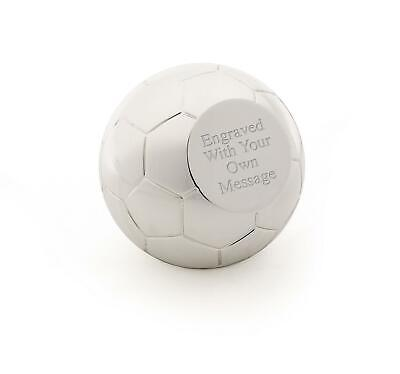 Personalised Football/Soccer Silver Plated Paperweight - Custom Engraved