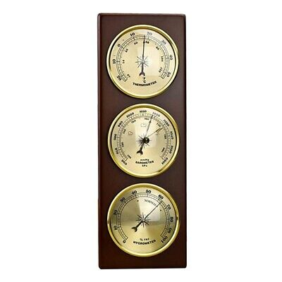 Wall Barometer Thermometer Hygrometer Weather Station Hanging Home/Office M U9J4