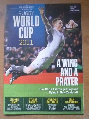 Rugby World Cup 2011 Preview Newspaper Guide (The Sunday Times).