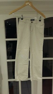 a POLO RALPH LAUREN Boys Chino Trousers Beige 7 Size 22/23""