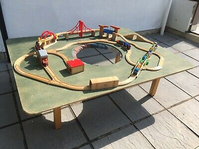 wooden toy train table