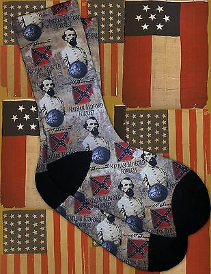 NEW Southern General Nathan Bedford Forrest designed socks
