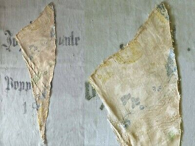 c.1720s EXQUISITE SPITALFIELDS GOLD FLORAL POLYCHROME SILK FRAGMENT FROM ROBE