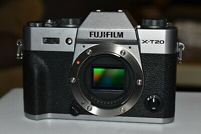 Fuji X-T20 mirrorless camera body only silver and black finish