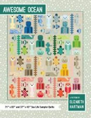 *NEW* Elizabeth Hartman - Awesome Ocean - Sea Life Quilt Sampler Pattern