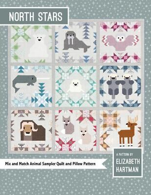 *NEW* Elizabeth Hartman - North Stars - Animal Quilt Sampler & Pillow Pattern
