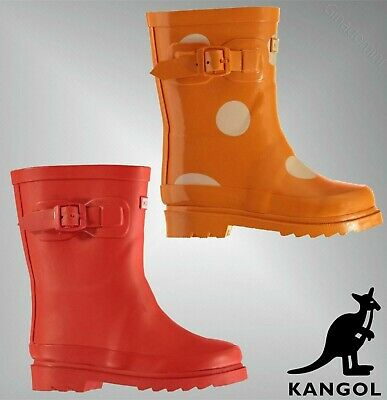 Boys Girls Kangol Grippy Buckle Classic Tall Wellingtons Sizes from C5 to C9