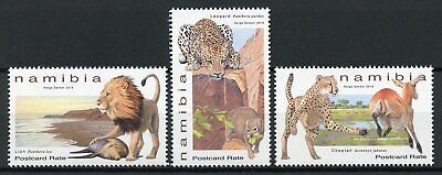 Namibia 2019 MNH Large Felines Lions Cheetahs Leopards 3v Set Animals Stamps