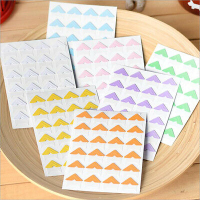 72 pcs/lot DIY Cute Pure Candy Color Corner kraft Paper Stickers Color Random