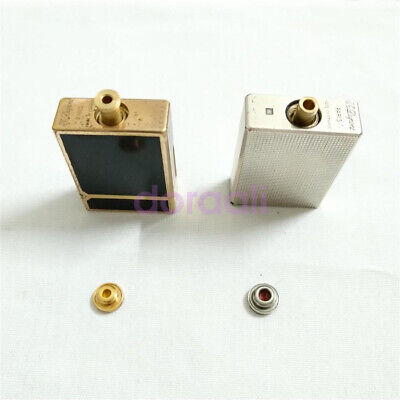 Dual Gas Refill Adapters for ST Dupont lighter Line 1/2 Gold/Yellow Cap.