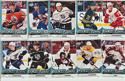 2017-18 UPPER DECK SERIES 1 YOUNG GUNS LOT OF10 ROOKIES SALE bv=124.00