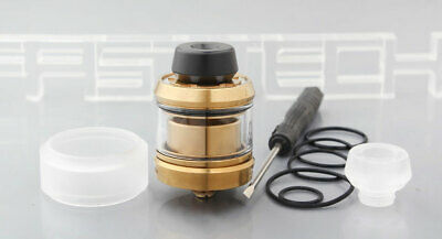 Gear Styled RTA Rebuildable Tank Atomizer Gold