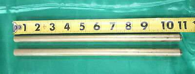 """1/2"""" C360 BRASS SOLID ROUND ROD (2 Pieces) 10 5/8"""" Long  New Lathe Bar Stock"""