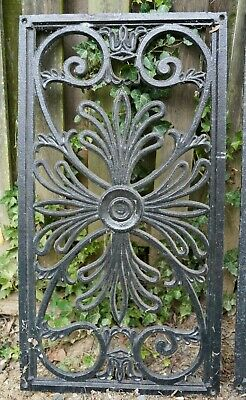 "Large Antique Cast Iron Grate Floor Register Window Vent 32 5/8"" x 17 1/2"""