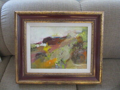 Vintage Original Rose Baumruker Abstract Oil On Canvas Painting 1960'S