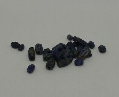 Ancient Carved Lapis  Beads -  021